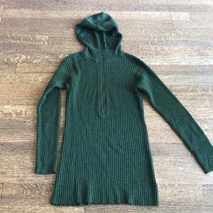 Free People long zipped hoodie sweater